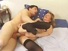 Milf fucked in her asshole after BJ tubes