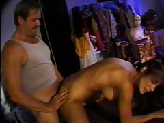 Big cock fucks her ass in mannequin room tubes