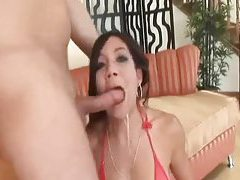 Asian deepthroat blowjob gets sloppy tubes