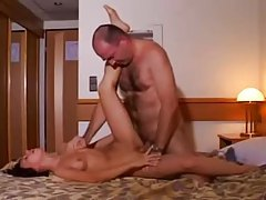 Cute amateur fucked by older hairy guy tubes