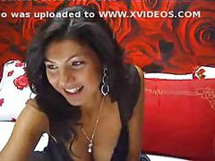 Girl on webcam in sexy black baby doll tubes