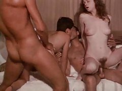 Vintage group sex scene with hairy pussies tubes