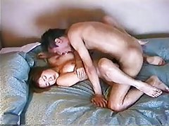 On her back fucked in Japanese pussy tubes