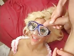 Gangbang and facials for a blonde whore tubes