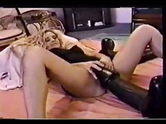 Crazy huge dildo fucking her amateur hole tubes
