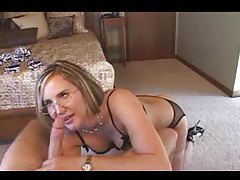 Milf in glasss gives a POV blowjob tubes