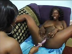 Fat titty black lesbians have some good sex tube