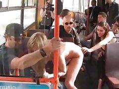 Wild sex scene on a public bus tubes