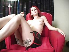 Redhead tells you to jerk off for her tubes