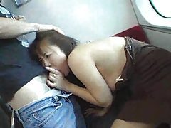 Japanese girl fucked on a train tubes
