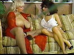 Two huge tit retro pornstars playing tubes