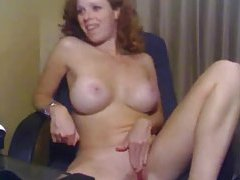 Girl with curly red hair masturbating tubes