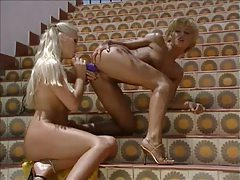 A toy play scene with lusty lesbians tubes