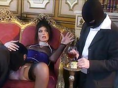 Ultra glamorous slut fucked by masked men tubes