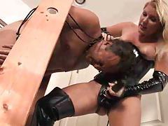 Latex mistress strapon fucks him tubes