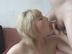 Dildo and cock slide into ass of blonde slut tubes