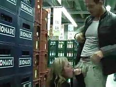 Dude fucks his lady in the supermarket tubes