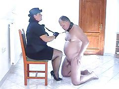 Hot femdom action with submissive chubby hubby tubes