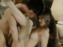 Classic fuck scene with two guys for her tubes