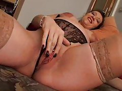 Pregnant chick showing off and using toys on cam tubes