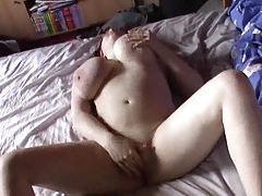 Chubby redhead masturbating and playing with tits tubes