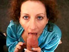 Satin milf enjoys the big stiff cock tubes