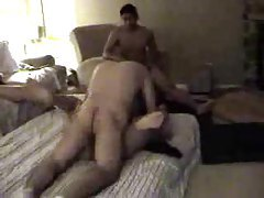 Wife takes lots of cock while hubby films tubes