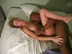 Husband films white wife taking cock in bed tubes