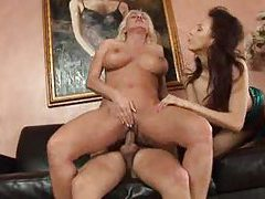 These two sluts are fooling with one man tubes