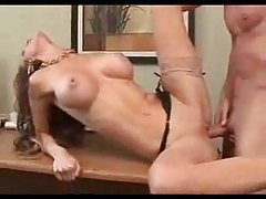 Busty secretary generously lays the boss tubes
