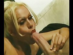 Lusty shemale in stockings done up the ass tubes