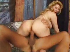 Wicked busty chick with big ass screwing tubes