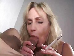 Sucking cock and smoking a cigarette tubes