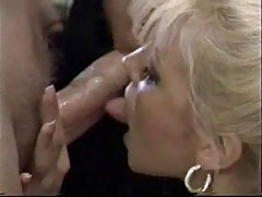 Lusty lesbian ladies have a threesome with him tubes