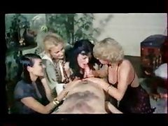 Retro porn with three sluts and a horny stud tube