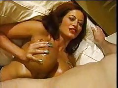 Huge tit babe is tit fucked and she looks hot tubes