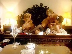 Lesbian threesome with the maid included tubes