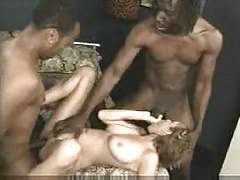 Wife fucked by two black cocks at once tube