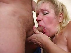 Chubby mature gives him head before riding tubes