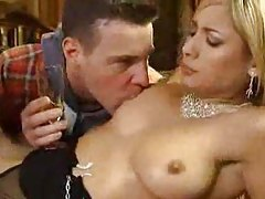 Sexy French glamour girl double penetrated tubes