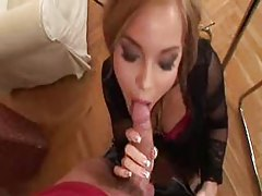 Long slow blowjob leads to facial tubes
