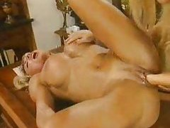 Muscular milf fisted and eaten out tubes
