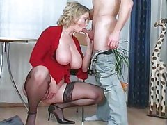 Foreplay and fucking the busty slut tubes