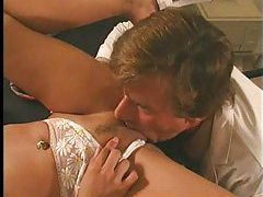 Nurse in pigtails fucked by the doctor tubes
