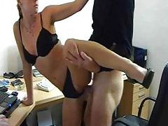 Sexy amateur office slut fucked by BF tubes