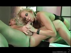 Chick in hot heels hammered hard and fast tubes