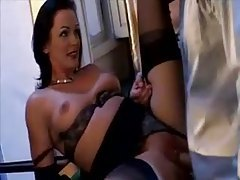 Lesbians hook up while a chick gets fucked tubes