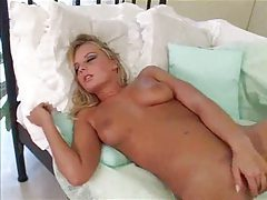 Arousing solo play with blonde hottie tubes