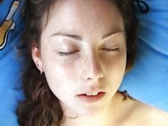 Watch her face as she masturbates tubes