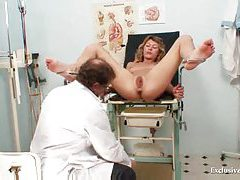 Visit to gyno to see inside her pussy tubes